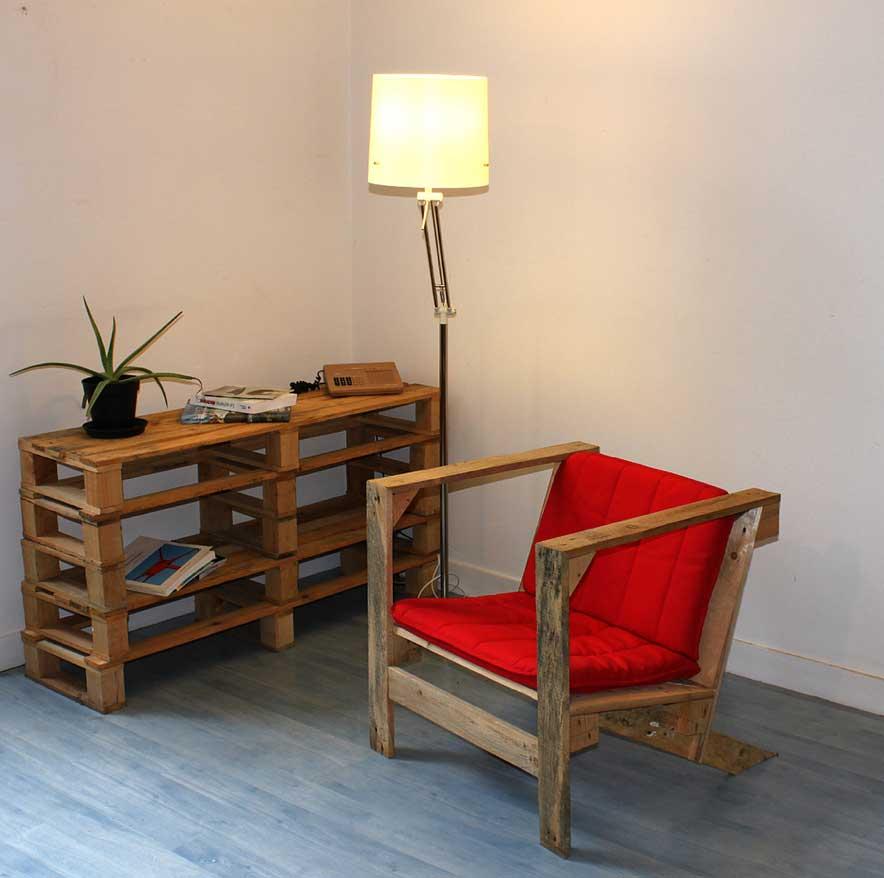 nábytek z palet křeslo