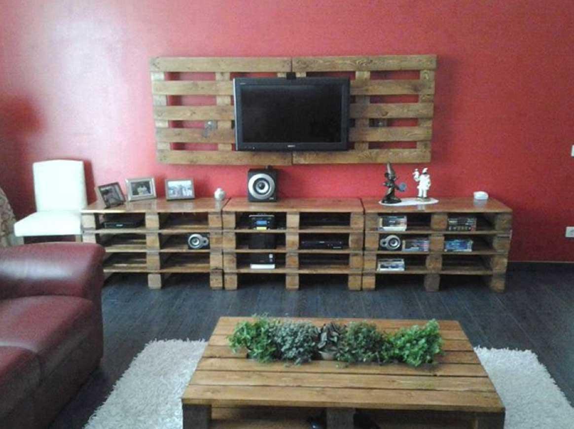nábytek z palet obývací pokoj