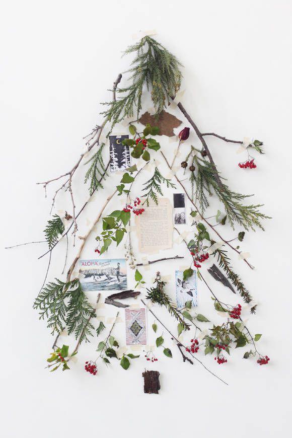 vanocni strom z vetvi